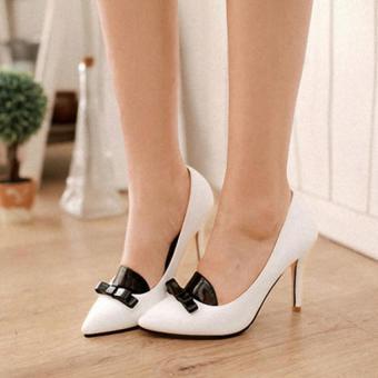 Giày cao gót thời trang hàn quốc GNXCG05 (Trắng)