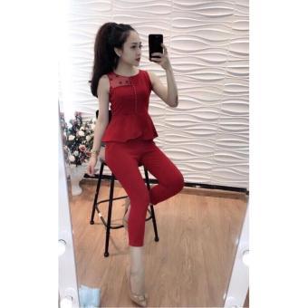 Đồ bộ nữ thời trang màu Đỏ DBCH-0004