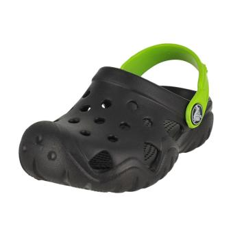 Xăng đan & Dép bé trai Crocs Swiftwater Clog K Black/Volt Green 202607-09W (Đen)