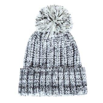 Winter Women Crochet Beret BeanieHat Knitted Wool Ski Crochet Cap White (Intl)