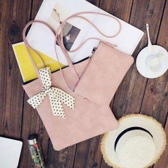 Túi đeo vai nơ hồng