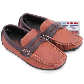 HL7808 - Giày KIDS mọi nam Huy Hoàng màu nâu đỏ phối nâu đất