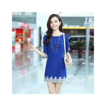 Đầm nữ ren tay Hàn Quốc 41005, HÀNG NHẬP KHẨU