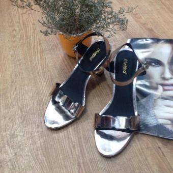Giày sandal cao gót Mattino ( Vàng hồng )