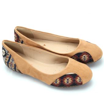 Giày búp bê thổ cẩm LINDA.THOCAM.CFS (Vàng bò)