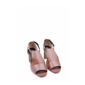 Giày Da Gót Vuông Thời Trang
