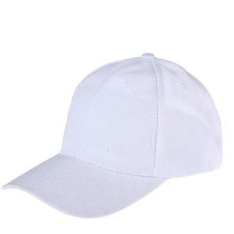 HKS Womens Men Sport Baseball Visor Cap Plain Blank Golf Ball Hat(white) - intl