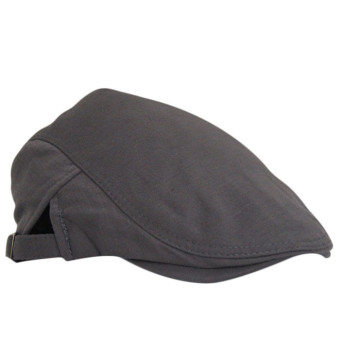 Beret Peaked Cap Dark Grey