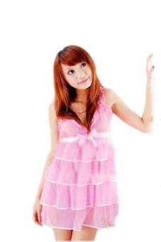Váy ngủ ren viền tầng Huy Kiệt V058 (Hồng)