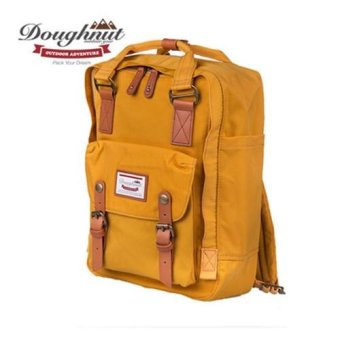 Doughnut Macaroon Unisex Waterproof Nylon Backpack (Yellow) - intl