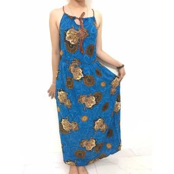 Đầm maxi Thái (Xanh)