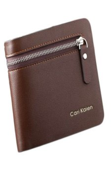 HKS Business Style Men Zipper Wallet (Brown) - intl
