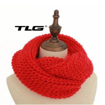 Khăn Len Choàng Cổ Dệt Kim Nhẹ TL6314-3 (Đỏ)