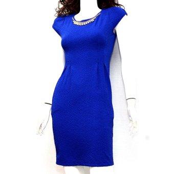 Đầm suông tay ngắn MiDu Fashion (Xanh Navy)