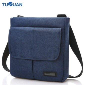 Lan-store Premium Quality Male / Female Bag-- Men Women Shoulder Bag Snow Canvas Waterproof Messenger Bag 16 Inch Unisex Crossbody Package Business Satchel (Blue) - intl