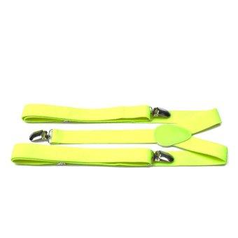 Moonar Women Clip-on Suspenders Elastic Y-Shape Adjustable Braces (Yellow)