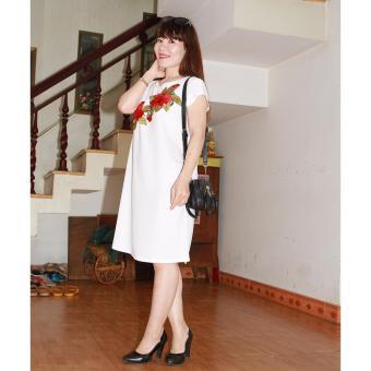 Đầm bầu thiết kế hoa thêu -Lê Dương