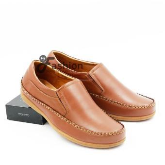 Giày Mọi Nam Da Thật GM267 (Nâu da bò)