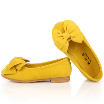 New Children Girls Dresses Shoes Baby Kids Princess Flats Bow-knot Shoes - Intl