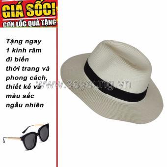 Mũ Cói Đi Biển Nam SoYoung GIFT HAT 043 CR + Tặng 1 Kính Râm Đi Biển Thời Trang