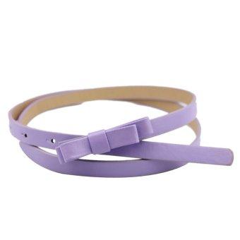 New Fashion Dow Candy Thin Women Pu Leather Casual Belt Cummerbund For Girl Purple