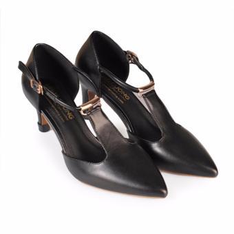 Giày cao gót nữ gót nhọn 8cm HC1311 (Đen)