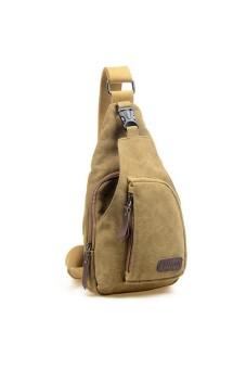 Men Satchel Backpack bag Messenge Bag Khaki - intl