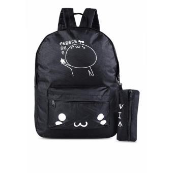 Balo thời trang tặng kèm ví đựng bút Ngôi sao Gg61 (đen)