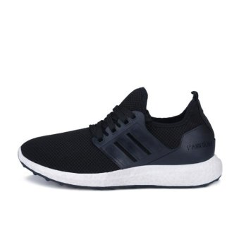 JOY Korea Korean fashion New leisure sports men 's shoes Black -intl