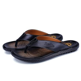 Men's flat slipper Fashion casual braethable ladies Flip Flops -intl