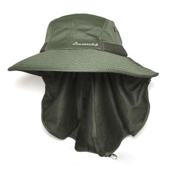 Mũ tai bèo 180⁰ vải Bambo chống UV Unisex LEADERSHIP 114HBG (Xanhlính)