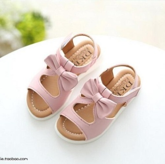 New Arrival Girls Sandals Fashion Summer Child Shoes High QualityCute Girls Shoes Design Casual Kids Sandals (EU SIZE22-37 / Pink) -intl