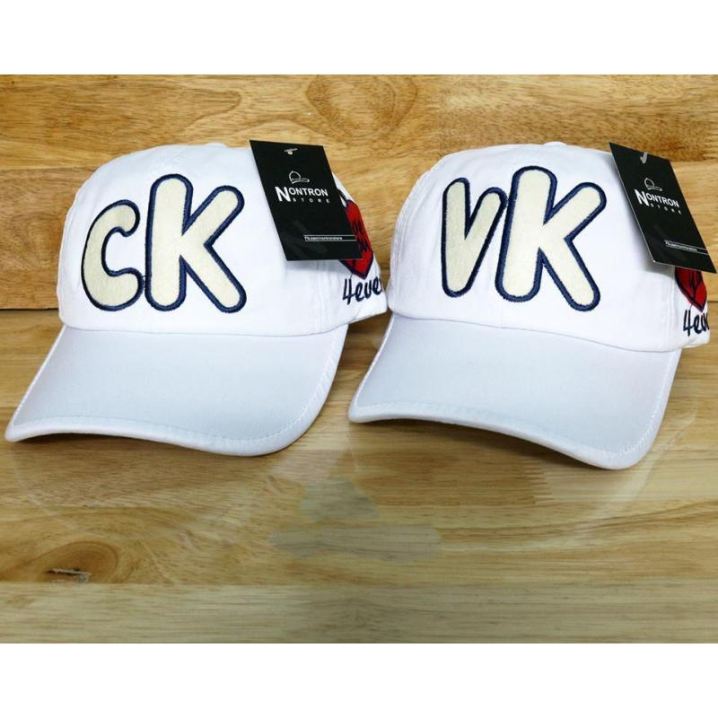 Nón Cặp  CK VK  Thời Trang  K& T ( TRẮNG )