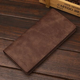 Premium PU Leather Multifunctional Large Capacity Men Wallet - intl