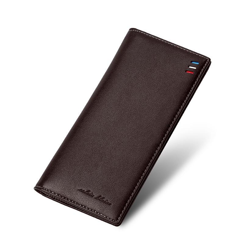 Hình ảnh Premium PU Leather Multifunctional Large Capacity Men Wallet - intl
