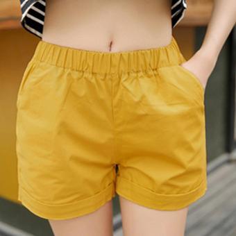 Quần shorts nữ kiểu dáng dễ thương chất liệu siêu đẹp thoáng mát 166_màu vàng