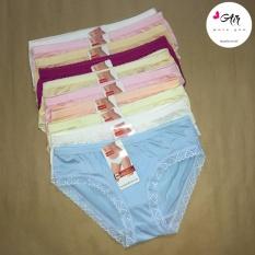 Tư vấn mua [SALE 8/3] Combo 10 quần lót nữ thun lạnh viền ren – AIR FL008