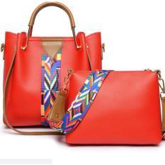 Vì sao mua Set đôi túi xách kèm túi đeo chéo thời trang HÀN QUỐC 782( đỏ)