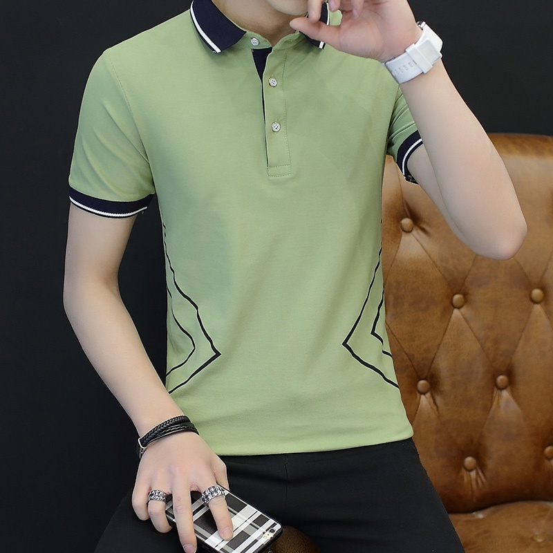 Korean Style Short Sleeved Summer Contrasting Color Casual White Source · SUMMER POLO SHIRT SHORT SLEEVED