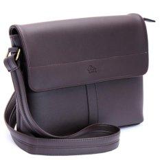 Túi đeo chéo TN00 (Da nâu đen )