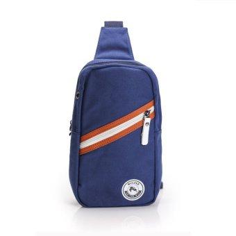 Túi Đeo Chéo Vải Bố Năng Động BA254 (Xanh)