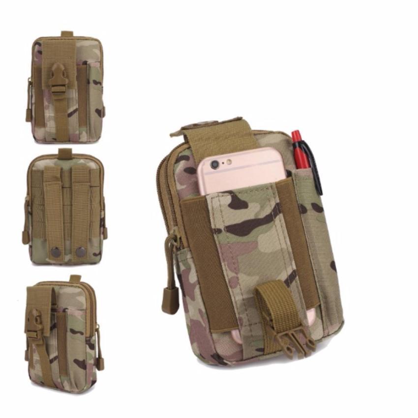 Hình ảnh Túi đeo hông chiến thuật quân đội kiểu kỹ thuật số HOAHAI (xám)
