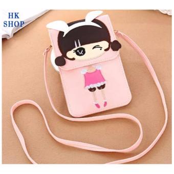Túi điện thoại cô gái xinh xắn HK SHOP G1 (Hồng Nude)