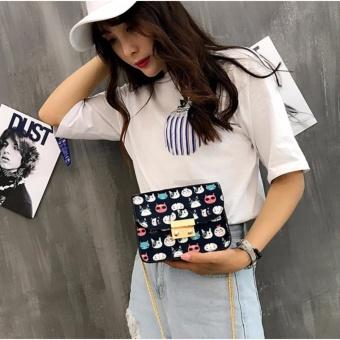 Túi mini nữ đeo chéo hoạt hình (Đen) Thoitrangkm