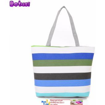 Túi tone nữ bảng to BTS -1SX (sọc xanh) + Kèm quà