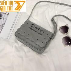 Túi xách tay, túi đeo chéo COVKEI nữ  thời trang LATA 57( GHI XÁM)- siêu thị giá tốt 247