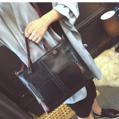 Túi xách thời trang CNC 1 (ĐEN)+TẶNG 01 GƯƠNG nữ cầm tay và khăn lau túi