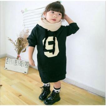 Bảng Báo Giá Váy dài cho bé màu đen in số 9 ( 12-20 kg )