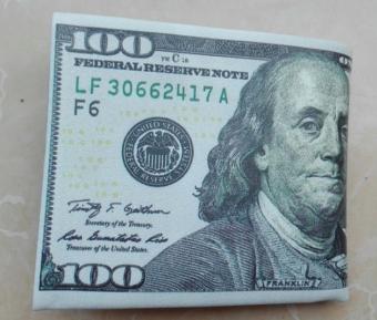 Ví da Nam hình tờ tiền 100 USD