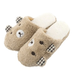 Nơi Bán Winter Warm Antiskid Soft Plush Slippers (Coffee) – intl   welcomehome